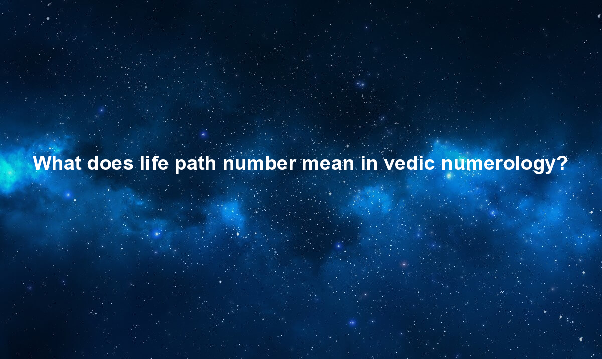 What does life path number mean in vedic numerology?